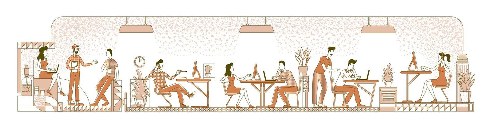 infografía espacios coworking