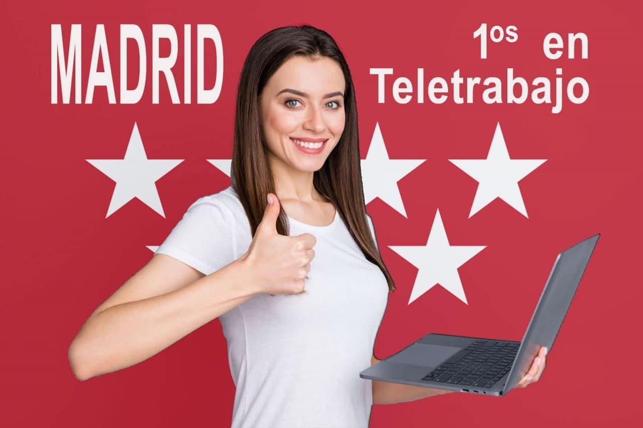 Madrid en primera posición del teletrabajo en España